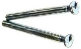 Envägsskruv 65mm M5 Krom