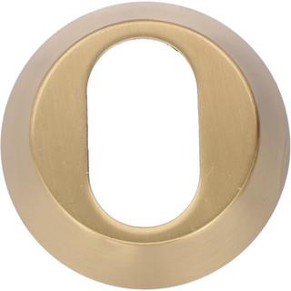 Cylinderring 16mm Oval Matt Mässin Mässing