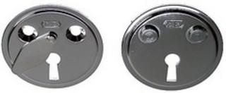 Nyckelskylt 5301 med 75mm Skruv    Krom