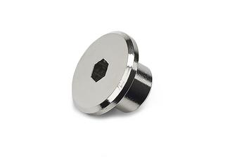 Möbelknopp Hattmutter M6 Nickel