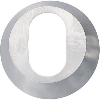 Cylinderring 18mm Oval Mattkrom
