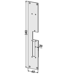 Monteringsstolpe ST187-A Vänster
