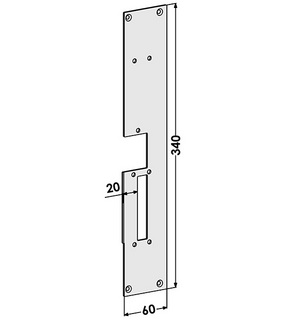 Monteringsstolpe ST187-B Höger