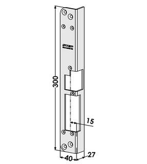 Monteringsstolpe ST284-A Vänster