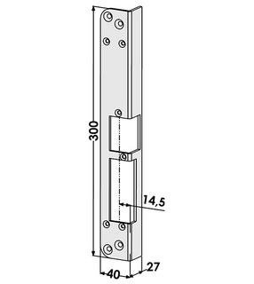 Monteringsstolpe ST286-A Vänster