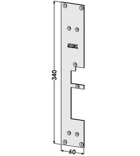 Monteringsstolpe ST287-A Vänster