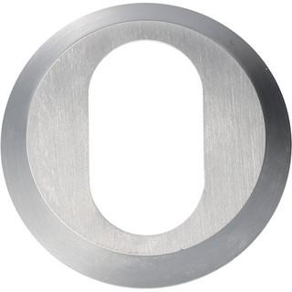 Cylinderring 8mm Oval Mattkrom