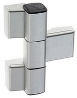 Gångjärn 60 3-Del 78mm Platta 21mm Vit