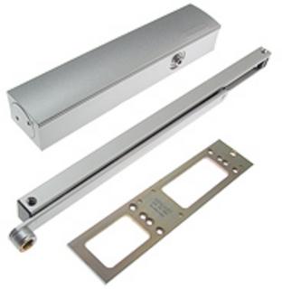 Dörrstängarsats TS5000 2-6 med     Standardglidskena Vit