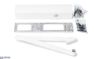 Dörrstängarsats TS4000S 1-6 med    Standardarm Vit