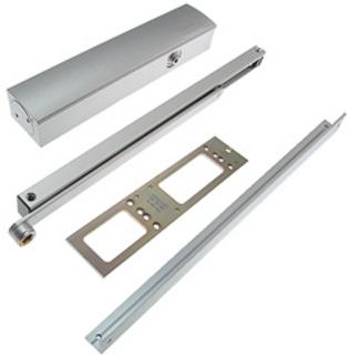 Dörrstängarsats TS5000L med Vinkelkonsol Silver