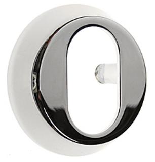 Cylinderring DA732 18mm Oval Krom