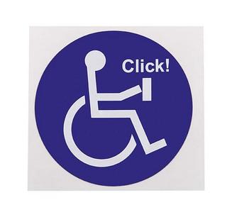 Klistermärke Handikappsymbol