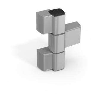 Gångjärn 60AT 3-Del 62,5mm Platta  21mm Natur