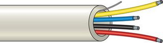 Larmkabel 4-Ledare 100m/Rulle