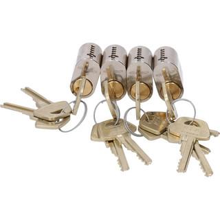 Cylinder 1301 4st Lika Låsning     12 Nycklar Nickel
