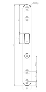 Slutbleck 106-5 Smalprofil med     Magnet