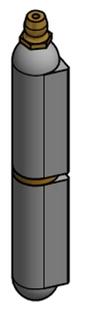 Svetsgångjärn N20 180mm            Stål/Mässingsprint & Smörjnippel