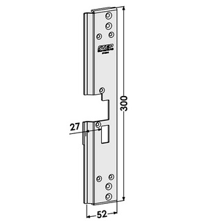 Monteringsstolpe ST1806-B Höger