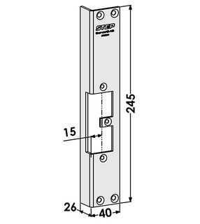 Monteringsstolpe ST9532H Höger