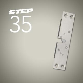 Skåplås STEP 35 Omvänd Vinklad 12V