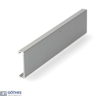 Täckprofil Porta 60/100 HMD 3m för Vägghängd Bärskena Kapad