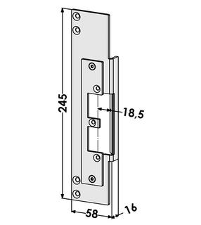 Monteringsstolpe ST9678V Vänster