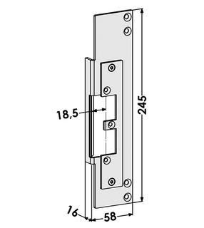 Monteringsstolpe ST9678H Höger