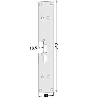 Monteringsstolpe ST1878-B Höger