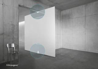 Pivotgångjärn Set System 3 9016    Rund golvplatta Rostfri