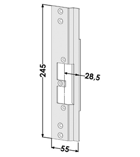 Monteringsstolpe ST9642V Vänster