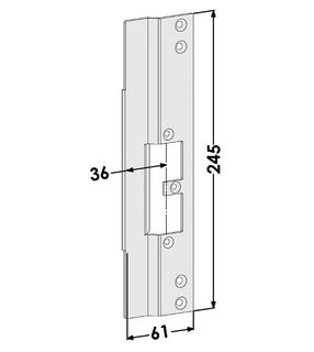 Monteringsstolpe ST9668H Höger