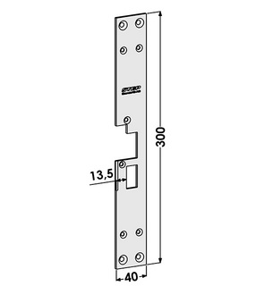 Monteringsstolpe ST183-B Höger