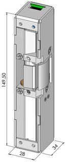 Elslutbleck STEP 60 Omvänd 12V Kolvkontakt 5m Kabel