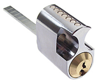 Cylinder DC521 Standard 3 Nycklar Mattkrom