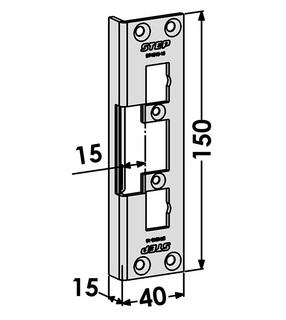 Monteringsstolpe ST4013-15