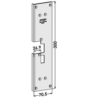 Monteringsstolpe ST1886-B Höger