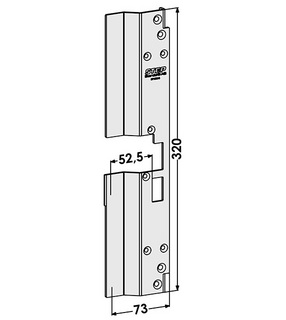 Monteringsstolpe ST1890-B Höger