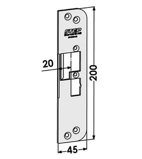Monteringsstolpe ST4030H-20 Höger