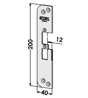 Monteringsstolpe ST4030V-12 Vänster