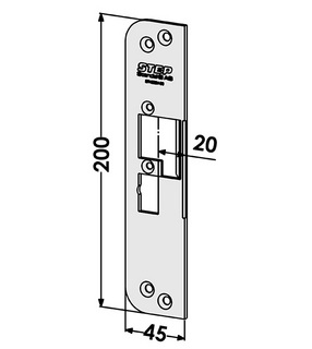 Monteringsstolpe ST4030V-20 Vänster
