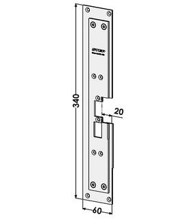 Monteringsstolpe ST6580-A Vänster
