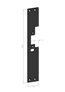 Monteringsstolpe SA601V-15 Vänster